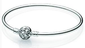 NWT💋 Pandora Limited Edition Pattern of Love Bangle Bracelet - Sterling Silver