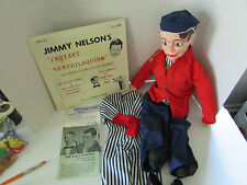 1960's Jimmy Nelson's Danny O Day Ventriloquist Doll 27 Inches With Record