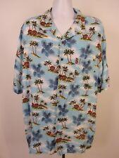 d2a9d048 George Button Up Shirt Hawaiian Style Men's 2XLT 50-52 Short Sleeve Palm  Trees
