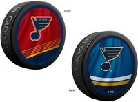 St. Louis Blues NHL Reverse Retro Dual Logo Souvenir Hockey Puck