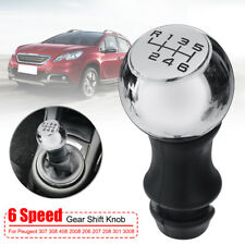 6-Speed Gear Shift Knob Manual Stick For Peugeot 307 308 408 206 207 208 605 807