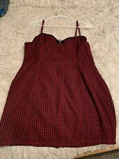 Forever 21 checkered zipper dress