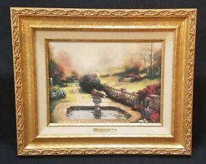 "Thomas Kinkade ""Gardens Beyond Autumn Gate"" Signed Classics Giclee on Canvas COA"