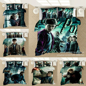 Harry Potter 3PCS Bedding Set Duvet Cover Pillowcases Comforter Cover US Size