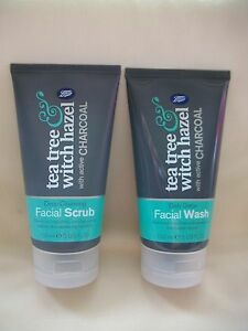 BOOTS Tea tree & Witch hazel daily detox facial wash and scrub + active charcoal