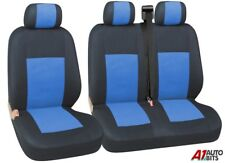 FOR RENAULT  TRAFIC , MASTER VAN 2+1 BLUE SOFT & COMFORT FABRIC SEAT COVERS
