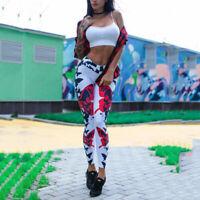 Femme Legging de Sport Taille Haute Pantalon Amincissant pour Yoga Gym
