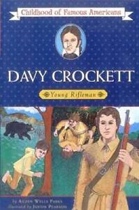 Davy Crockett: Young Rifleman (Childhood of Famous Americans) - Paperback - GOOD