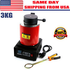 3KG Electric Melting Furnace Jewlery Gold Silver Smelter Melter 110V Melt Scrap