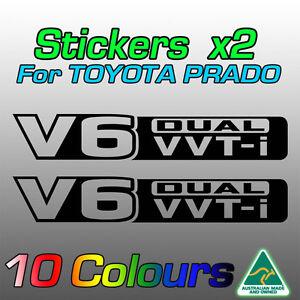 Toyota Prado stickers decals x2 for V6 dual VVTi ***premium quality***