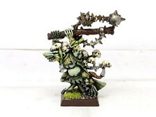 SKAVEN PLAGUE LORD Painted OOP Warhammer Priest Age Of Sigmar Pestilens Army