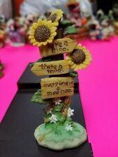 Mary Moo Moos Figurine - Sunflowers Sign Here a Moo There Everywhere Moo Moo