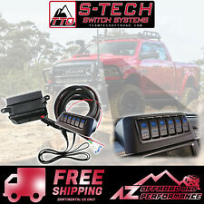 S-Tech 2013-2018 Dodge Ram Truck 6 Switch System with Relay Center Blue
