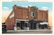 Rockland Maine Strand Theatre Street Scene Antique Postcard K34833
