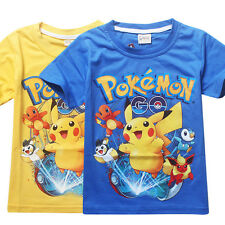 29488d6e9 Pokemon Go Pikachu Boys Cotton Children Kids Summer Short T-shirt Tee Top  Shirt