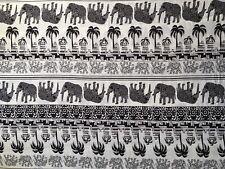 Elephant Print Dressmaking Cotton Fabric Boho Yoga Harem Pants Beach Wrap UK