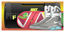 "Original ""2015"" Nike Air Mag Back to the Future Sneaker Art Print McFly Doc"