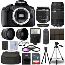 Canon EOS 2000D DSLR Camera + 4 Lens Kit 18-55mm + 75-300mm + 16GB Top Value Kit