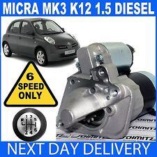 MOTORE Di Avviamento Si Adatta Nissan Micra MK3 K12 6-SPEED 1.5 dCi Diesel K9K 2001-2007