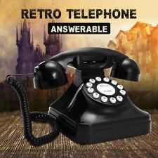 Black Vintage Retro Antique Phones Wired Cored Landline Home Desk Decoration