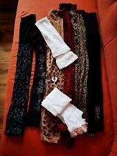 8 Strumpfhosen Leggings Nylon Paket Größe S/M Muster Bastelware
