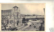 Suizo cpa POSTAL- GINEBRA La iglesia Notre Dame Plaza y de la estación Cornavin