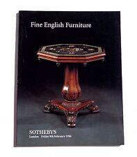 SOTHEBY'S CATALOGUE DE VENTE LONDON 1996 FINE ENGLISH FURNITURE
