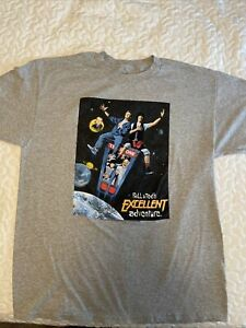 Bill and Ted's Excellent Adventure Men's Large Gray T-shirt