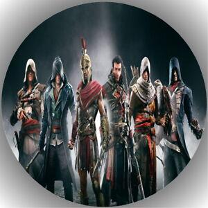 Tortenaufleger Geburtstag Tortenbild Fondant Oblate Assassin's Creed L1