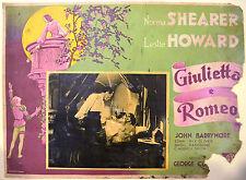 FOTOBUSTA O. GIULIETTA E ROMEO 36 Romeo and Juliet SHEARER HOWARD DA RESTAURARE