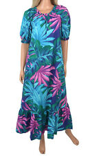 13e795f2780 Vintage 80s Hilo Hattie Muumuu Hawaiian Dress Cotton Aloha Tropical Floral  Luau