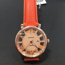 """Casio Sheen Bright """"Vitamin Color"""" Leather Strap Ladies Watch SHE-4047PGL-4A"""