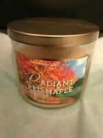 Bath and Body Works Radiant Red Maple 3 Wick Candle