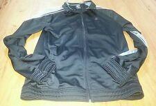 Men's Starter Fleece Jacket Black/Grey Size S Small (34-36) Full Zip