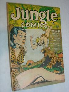Jungle Comics #34 G+ GGA Headlights Bondage Kaanga Jungle Lord