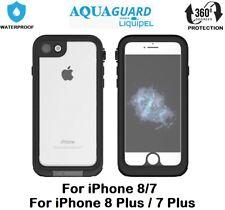 AquaGuard 360° Shockproof Waterproof Case Cover For iPhone 7 Plus 8 Plus -Black