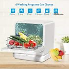 Portable Countertop Dishwasher Compact Dishwashers Fruit Vegetables Dishes 7.5L photo