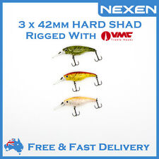 3 x NEXEN Hardbody Shad Bream Bass Lure for Saltwater Freshwater as Daiw Zipbai