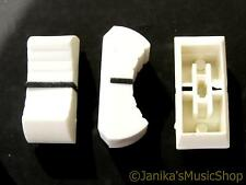 White slider potentiometer knob for studio mixer fader dj control panel 11x24mm