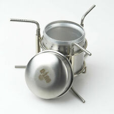 Stainless backpacking Alcohol stove Like Trangia for EDC Bushcraft & Survival