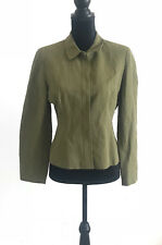 Ann Taylor Women's Green Petite Textured Linen Blazer Jacket Size 6P