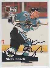 Autographed 91/92 Pro Set Steve Bozek - Sharks