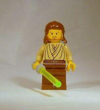 LEGO Star Wars Minifigure  Qui-Gon Jinn w Lightsaber Clone Wars  *1st Variant*