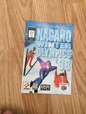 Nagano Winter Olympics 98 Instruction Manual Only N64 Nintendo 64 L@@K