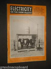 JUN  JULY 1951 ELECTRICITY ON THE FARM MAGAZINE Country Life Vintage Ads PP&L