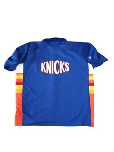 New York Knicks Basketball Shooting Jersey HWC Hardwood Classics Mens Retro Sewn