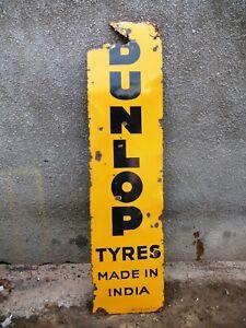 Dunlop Tire Vintage Porcelain Enamel Sign Automobile Collectibles Shop Display 7