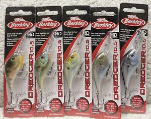 """(5) Berkley Dredger 10.5 2.25"""" 1/2oz Dives 9-11.5' CrankBaits Good Colors 99"""