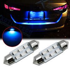 2x 6-SMD 6418 C5W 36MM Festoon LED License Plate Tag Light Bulbs 8000K Ice Blue