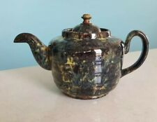 Vintage ALB Brown Betty teapot, Alcock, Lindley & Bloore No drip spout Mottled